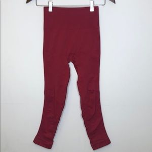 Lululemon Spandex Leggings Red